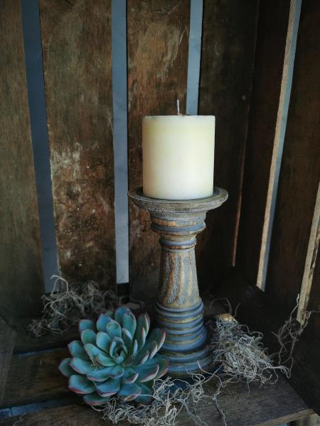 Small wooden candlestick